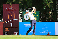 Michael Hoey (NIR) during the first round of the Ras Al Khaimah Challenge Tour Grand Final played at Al Hamra Golf Club, Ras Al Khaimah, UAE. 31/10/2018<br />