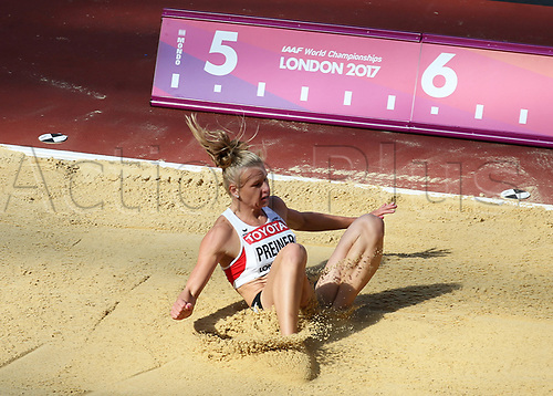 August 6th 2017, London Stadium, East London, England; IAAF World Championships, Day 3; Vanessa Chefer of Austria competing in the Women's Long Jump Heptathlon