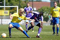 UITHUIZEN - Voertbal, RWE Eemsmond - FC Groningen, voorbereiding seizoen 2018--2019, 30-06-2018,  FC Groningen speler Ahmad Mendes Moreira in duel