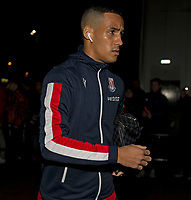 31st January 2020; Pride Park, Derby, East Midlands; English Championship Football, Derby County versus Stoke City; Tom Ince of Stoke City arriving at Pride Park before the match - Strictly Editorial Use Only. No use with unauthorized audio, video, data, fixture lists, club/league logos or 'live' services. Online in-match use limited to 120 images, no video emulation. No use in betting, games or single club/league/player publications