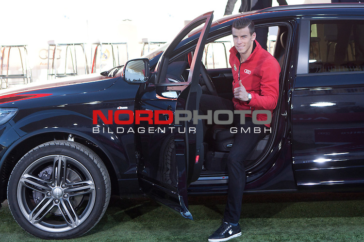 Gareth Bale participates and receives new Audi during the presentation of Real Madrid's new cars made by Audi at  Hipodromo de la Zarzuela in Madrid. November 28, 2013. Foto © nph / Caro Marin)