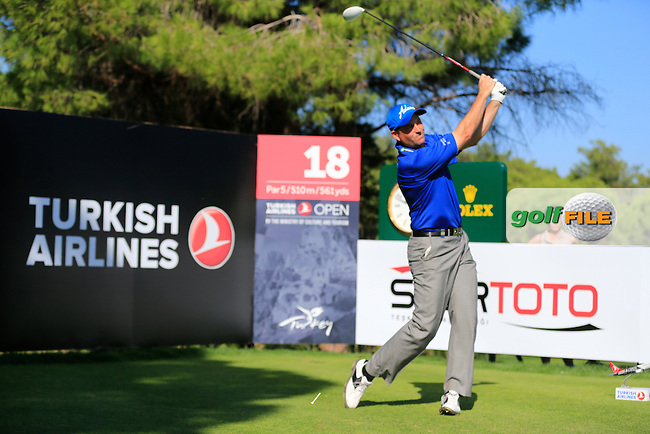 David HOWELL (ENG) during round 3 of the Turkish Airlines Open presented by the Ministry of Tourism and Culture, hosted at the The Montgomerie Maxx Royal,Antalya,Turkey.<br /> Picture: Fran Caffrey www.golffile.ie