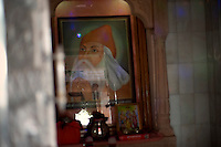 An image of Guru Jambeshwar ji. Who is the main guru of Bishnois and whohas laid down 29 pricipals for Bishnoism. Jodhpur, Rajasthan, India. Arindam Mukherjee