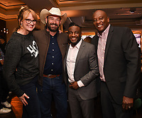 PASADENA, CA - JANUARY 17: (L-R) Heartland Docs, DVM's Dr. Ben Schroeder and Dr. Erin Schroeder and Critter Fixers Country Vets Dr. Vernard L. Hodges and Dr. Terrence Ferguson attend the National Geographic 2020 TCA Winter Press Tour Party at the Langham Huntington on January 17, 2020 in Pasadena, California. (Photo by Frank Micelotta/National Geographic/PictureGroup)