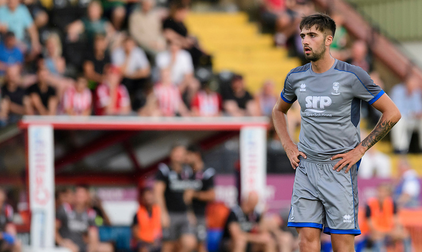 Lincoln City's Ellis Chapman<br /> <br /> Photographer Chris Vaughan/CameraSport<br /> <br /> Football Pre-Season Friendly - Lincoln City v Stoke City - Wednesday July 24th 2019 - Sincil Bank - Lincoln<br /> <br /> World Copyright © 2019 CameraSport. All rights reserved. 43 Linden Ave. Countesthorpe. Leicester. England. LE8 5PG - Tel: +44 (0) 116 277 4147 - admin@camerasport.com - www.camerasport.com