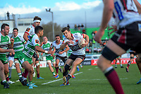 Matt Duffie in action during the Mitre 10 Cup rugby match between Manawatu Turbos and North Harbour at CET Stadium in Palmerston North, New Zealand on Sunday, 29 September 2019. Photo: Dave Lintott / lintottphoto.co.nz