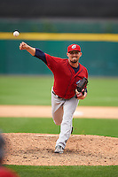 Columbus Clippers pitcher Shawn Armstrong (43) delivers a pitch during a game against the Buffalo Bisons on July 19, 2015 at Coca-Cola Field in Buffalo, New York.  Buffalo defeated Columbus 4-3 in twelve innings.  (Mike Janes/Four Seam Images)