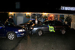 the scene of RTC in the car park at the entrance to the black bull.<br /> Picture: Fran Caffrey www.newsfile.ie