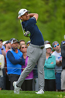 Xander Schauffele (USA) watches his tee shot on 6 during round 4 of the 2019 PGA Championship, Bethpage Black Golf Course, New York, New York,  USA. 5/19/2019.<br /> Picture: Golffile | Ken Murray<br /> <br /> <br /> All photo usage must carry mandatory copyright credit (© Golffile | Ken Murray)