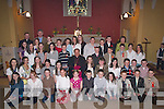 Pupils from O'Brennan's National School .who were confirmed by Bishop Bill Murphy on Thursday in St Brendan's Church, Cloghers, Ballymacelligott pictured here with their Principal and Priest Fr Pat Crean-Lynch,   Copyright Kerry's Eye 2008
