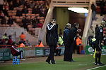 Middlesbrough 1 Preston North End 1, 22/01/2011. Riverside Stadium, Championship. Middlesbrough FC's manager Tony Mowbray watching the action from the touchline in an Npower Championship fixture against Preston North End at the Riverside Stadium. The match ended in a one-all draw watched by a crowd of 16,157. Middlesbrough relocated from their former home at Ayresome Park in 1995. Photo by Colin McPherson.