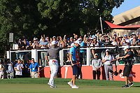 Lee Westwood (ENG) wins on the 18th green during Round 4 of the Abu Dhabi HSBC Championship at the Abu Dhabi Golf Club, Abu Dhabi, United Arab Emirates. 19/01/2020<br /> Picture: Golffile | Thos Caffrey<br /> <br /> <br /> All photo usage must carry mandatory copyright credit (© Golffile | Thos Caffrey)