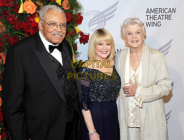 NEW YORK, NY - SEPTEMBER 28: James Earl Jones, Cecilia Hart and Angela Lansbury  attends the 2015 American Theatre Wing's Gala at The Plaza Hotel on September 28, 2015 in New York City..<br /> CAP/MPI/STV<br /> &copy;STV/MPI/Capital Pictures