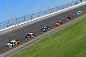 Monster Energy NASCAR Cup Series<br /> Daytona 500<br /> Daytona International Speedway, Daytona Beach, FL USA<br /> Sunday 18 February 2018<br /> Kyle Busch, Joe Gibbs Racing, M&amp;M's Toyota Camry, Justin Marks, Rick Ware Racing, HARRY'S Chevrolet Camaro, Matt DiBenedetto, Go Fas Racing, The Hurricane Heist Ford Fusion<br /> World Copyright: Logan Whitton<br /> LAT Images