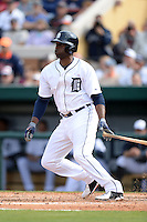 Detroit Tigers outfielder Torii Hunter (48) during a spring training game against the Atlanta Braves on February 27, 2014 at Joker Marchant Stadium in Lakeland, Florida.  Detroit defeated Atlanta 5-2.  (Mike Janes/Four Seam Images)