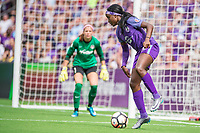 Orlando, FL - Saturday April 22, 2017: Chioma Ubogagu during a regular season National Women's Soccer League (NWSL) match between the Orlando Pride and the Washington Spirit at Orlando City Stadium.