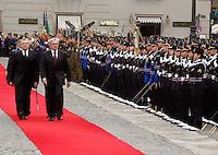 NAPOLI 28/03/2013 908 ANNIVERSARIO DELLA'ACCADEMIA AERONAUTICA .NELLA FOTO GIAMPAOLO DI PAOLA E PIETRO GRASSO.FOTO CIRO DE LUCA..