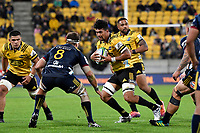 Hurricanes' Ardie Savea in action during the Super Rugby - Hurricanes v Highlanders at Westpac Stadium, Wellington, New Zealand on Friday 8 March 2019. <br /> Photo by Masanori Udagawa. <br /> www.photowellington.photoshelter.com