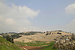 Israel, Jerusalem, a view of Kidron Valley from the City of David, Mount of Olives is in the background