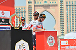 UAE Team Emirates sign on before the start of Stage 4 of the 2019 UAE Tour, running 197km form The Pointe Palm Jumeirah to Hatta Dam, Dubai, United Arab Emirates. 26th February 2019.<br /> Picture: LaPresse/Massimo Paolone | Cyclefile<br /> <br /> <br /> All photos usage must carry mandatory copyright credit (© Cyclefile | LaPresse/Massimo Paolone)