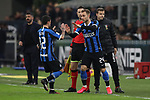 Christian Eriksen of Inter enters the field of play in place of Stefano Sensi of Inter during the Coppa Italia match at Giuseppe Meazza, Milan. Picture date: 12th February 2020. Picture credit should read: Jonathan Moscrop/Sportimage