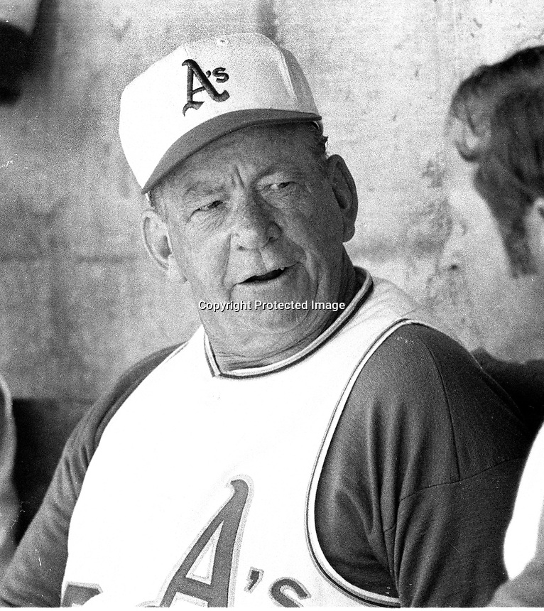 Oakland Athletics pitching coach Bill Posdel..(1970 photo/Ron Riesterer)
