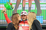 Cycling Tour of the Alps 2018; <br /> Second stage between Lavarone and Alpe di Pampeago-Fiemme on April 17, 2018 in Alpe di Pampeago, Italy; Ivan Sosa Cuervo (Androni Giocattoli) from Columbia is the new leader after 2 stages. Ivan Ramiro (Androni Giocattoli) Credit: Pierre TEYSSOT