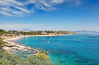 Agia Marina beach in Spetses island, Greece