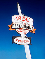 ABC Chinese Restaurant sign on old route 66 in Kingman, Arizona