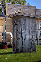 Outhouse in Elk City Oklahoma, at the Farm and Ranch Museum. part of the Route 66 Museum.