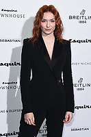 LONDON, UK. October 16, 2019: Eleanor Tomlinson arriving for the Esquire Townhouse 2019 launch party, London.<br /> Picture: Steve Vas/Featureflash