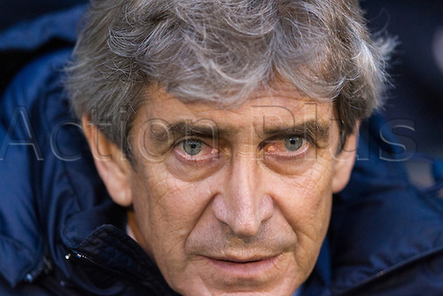 21.12.2013 London, England.  Manchester City's Manager Manuel PELLEGRINI before the Premier League game between Fulham and Manchester City from Craven Cottage.