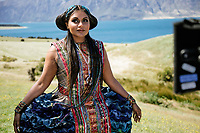 A Wrinkle in Time (2018) <br /> Behind the scenes photo of Mindy Kaling<br /> *Filmstill - Editorial Use Only*<br /> CAP/MFS<br /> Image supplied by Capital Pictures