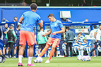 Huddersfield Town's Tommy Elphick during the pre-match warm-up <br /> <br /> Luke Brennan/CameraSport<br /> <br /> The EFL Sky Bet Championship - Queens Park Rangers v Huddersfield Town - Saturday 10th August 2019 - Loftus Road - London<br /> <br /> World Copyright © 2019 CameraSport. All rights reserved. 43 Linden Ave. Countesthorpe. Leicester. England. LE8 5PG - Tel: +44 (0) 116 277 4147 - admin@camerasport.com - www.camerasport.com