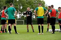 GRONINGEN - Voetbal, Eerste training FC Groningen, Corpus den Hoorn, seizoen 2019-2020, 22-06-2019, FC Groningen trainer Danny Buijs geeft uitleg