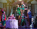London, UK. 03.11.2015. ELF THE MUSICAL opens at the Dominion Theatre, Tottenham Court Road. Picture shows: Ben Forster (Buddy), Kimberley Walsh (Jovie) and Graham Lappin (Store Manager) and ensemble. Photograph © Jane Hobson.