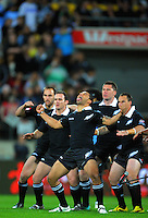 NZ captain Benji Marshall leads the haka. Four Nations Rugby League - New Zealand Kiwis v England at Westpac Stadium, Wellington, New Zealand on Saturday, 23 October 2010. Photo: Dave Lintott / lintottphoto.co.nz