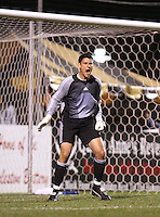 Houston goalkeeper Pat Onstad yells at his defenders. The Major League Soccer Houston Dynamo defeated the United Soccer League Division 1 Charleston Battery 1-0 in a preseason game at Blackbaud Stadium on Daniel Island in Charleston, SC, as part of the Carolina Challenge Cup on Saturday, March 18, 2006.