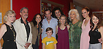 """Linda Thorson (One Life To Live) stars in """"Blithe Spirit"""" with cast - Left to right - Anne Lewis (director), Carl Wallnau, Karen Peakes, Ian Merrill Peakes, son Owen, Ilia Paulino (asst dir), Joyce Cohen, Linda Thorson, Elieanor Handley and Ally Borgstrom - on opening night - July 24. 2016 at the Pennsylvania Shakespeare Festival in Center City, Pennsylvania. (Photo by Sue Coflin/Max Photos)"""