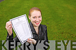 Claire Crowley (Ardfert) a student at Presentation Tralee who got 12 A's in her Junior Cert results on Wednesday. .