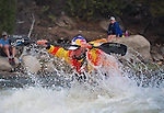 May 30, 2016 - Buena Vista, Colorado, U.S. -  Team Jackson and world champion freestyle kayaker, Dane Jackson, paddles his way to victory in the Men's Freestyle Kayak competition during the CKS Paddlefest, one of the Rocky Mountain Region's first adventure events of the summer in Buena Vista, Colorado.