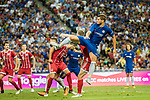 Chelsea Forward Alvaro Morata (C) in action during the International Champions Cup match between Chelsea FC and FC Bayern Munich at National Stadium on July 25, 2017 in Singapore. Photo by Marcio Rodrigo Machado / Power Sport Images