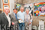 "Art Exhibition : Pictured  at the opening of Michael Kelliher's art exhibition ""Mortas Aite Dhuchais"" (Pride of Place) at St. John's Arts Centre, Listowel on Friday night last were Moss Moran, Danny Hannon, Ger Power & Maimie Kearrney/"