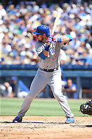 082816 Los Angeles, CA:Chicago Cubs second baseman Ben Zobrist #18 during an MLB game between the Chicago Cubs and the Los Angeles Dodgers, played at Dodger Stadium