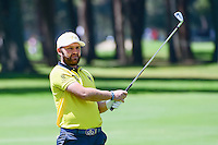 Andy Sullivan (ENG) watches his approach shot on 4 during round 2 of the World Golf Championships, Mexico, Club De Golf Chapultepec, Mexico City, Mexico. 3/3/2017.<br /> Picture: Golffile | Ken Murray<br /> <br /> <br /> All photo usage must carry mandatory copyright credit (&copy; Golffile | Ken Murray)