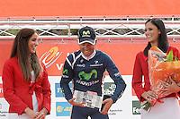 Alejandro Valverde celebrates the victory in the stage of La Vuelta 2012 between Lleida-Lerida and Collado de la Gallina (Andorra).August 25,2012. (ALTERPHOTOS/Acero) /NortePhoto.com<br /> <br /> **CREDITO*OBLIGATORIO** <br /> *No*Venta*A*Terceros*<br /> *No*Sale*So*third*<br /> *** No*Se*Permite*Hacer*Archivo**<br /> *No*Sale*So*third*