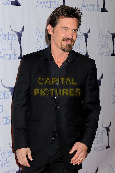 JOSH BROLIN .WGA 2009 Writers Guild Awards at the Hyatt Regency Century Plaza Hotel, Century City, CA, USA, .07 February 2009. .half length black suit shirt beard goatee .CAP/ADM/BP.©Byron Purvis/Admedia/Capital PIctures