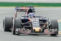March 18, 2016: Max Verstappen (NDL) #33 from the Scuderia Toro Rosso team rounds turn 2 during practise session one at the 2016 Australian Formula One Grand Prix at Albert Park, Melbourne, Australia. Photo Sydney Low