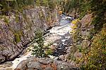 Fall foliage at Ripogenus Gorge, Piscataquis County, ME, USA
