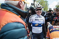 winner Anna van der Breggen (NED/Boels Dolmans) after finishing <br /> <br /> La Fl&egrave;che Wallonne Feminine 2017 (1.WWT)<br /> One Day Race: Huy &rsaquo; Mur de Huy (120km)